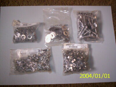 PARTS LOT STAINLESS STEEL NUTS, BOLTS, & WASHERS FOR HARLEY BIKES, TRUCKS, CARS