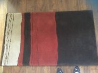 John Lewis 100% wool. Heavy good quality rug for sale.