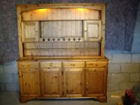 Large Ducal Welsh Dresser with lighting and display areas