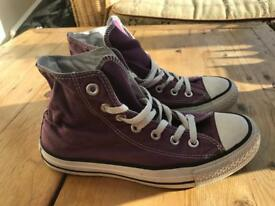Converse Chuck Taylor All Star Hi Top Purple Trainers size UK5