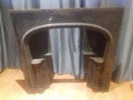 Fireplace cast Iron regency style- in need of tlc to restore