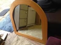 Large overmantle mirror