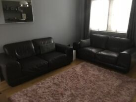 Natuzzi leather suite x2 £150 total