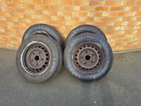 Ford Transit tourneo Custom Steel Wheels with Tyres 215/65/R15C