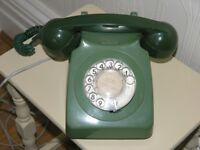 Vintage Green GPO Dial Type Telephone Weymouth