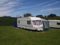 Tourer - Lunar Silver Jubilee 5/6 Berth Caravan with Awning - West Wales