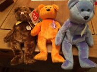 6 Beanie babies with tags