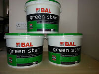 Bal Green Star Tile adhesive + cream beading trim