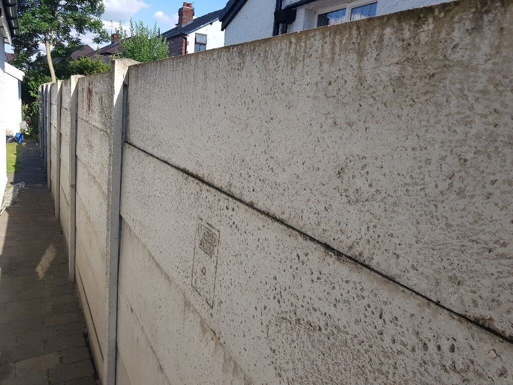 6ft concrete fence panels - 25 available, £5 each | in Gatley, Manchester |  Gumtree