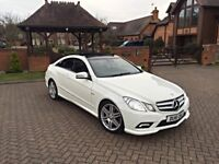 2011 MERCEDES E CLASS E350 CDI AMG SPORT BLUETEC COUPE FSH 70K FULLY LOADED PANROOF