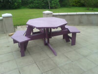 wheelchair accessible octagon picnic table