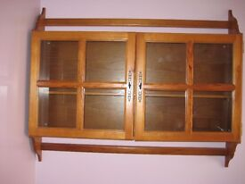Wooden Display Cabinet with 1 adjustable shelf