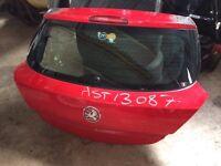 3 door Vauxhall Astra boot lid