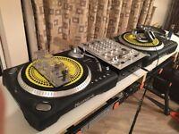 Numark TT500 / TT 500 (pair) + free KAM scratch pro 150 mixer