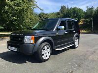 2008 LANDROVER DISCOVERY 2.7 TDV6 GS AUTO 7 SEATER BLACK 2 OWNERS F.S.H TOWBAR LONG MOT GOOD RUNNER