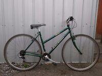 ladies green bike 700c raleigh hybrid
