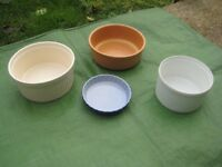 Four Stoneware Baking Dishes - See Individual Prices
