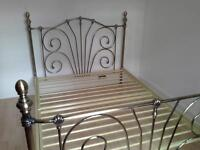 Metal double bed frame excellent condition