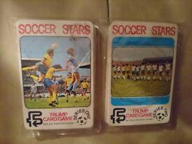 1970's Football trump card games (2)