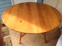 Ercol blonde drop leaf table