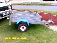 SMALL GALVANISED BODY CAR TRAILER