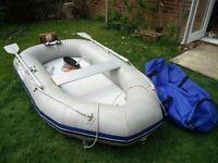 Waveline wl230ra dinghy with outboard bracket