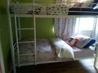 Two bunk beds for sale cones with for mattress