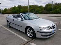 2006 SAAB 1.9 DIESEL. CONVERTIBLE LINEAR SPORT. SILVER 6 SPEED MANUAL.
