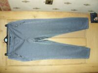Ladies grey 'sparkle' trousers