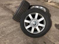 """Genuine 4 x 16"""" VW golf wheels"""