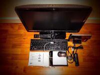 Lenovo Q190 Ultra Small Form Factor Desktop PC + Monitor(TV) Bush 24' Full 1080p Digital Lcd Tv