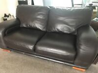 Leather sofas one three seater one two seater can be sold together or separately