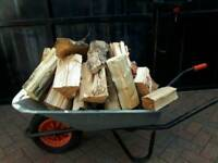 LOGS FOR SALE THIS IS A BIG WEEL BARROW FULL