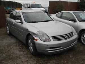 2003 Infiniti G35 120,089 km - Rebuilder- AS IS