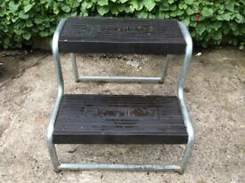 CARAVAN STEP. Double Lightweight Alloy non slip rubber on steps £15.