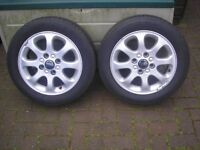 volvo v40 alloys with new 195/55.r15 tyres x 2