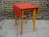 FREE DLEIVERY Retro Dropleaf Red Formica Table Vintage Furniture