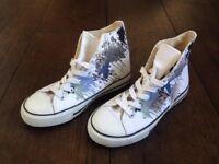 New Paint splatter lace up shoes UK 4 EU 37 RRP 14.99