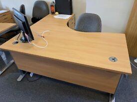 2 x Large Corner Desks (FREE on collection)