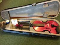 Stentor Harlequin Violin Pink 4/4