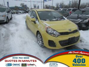 2016 Kia Rio LX | ONE OWNER| BLUETOOTH | SPORTY  | SAT RADIO