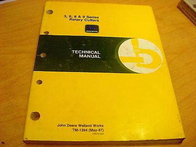 John Deere 3 6 8 9 Series Rotary Mower Repair Manual