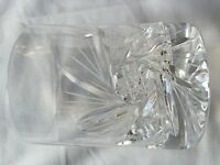 Six Crystal Cut Glass Tumblers