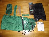 TENT 1 person lightweight tent X lite 100 Karrimor tent unused 1.56kg £45