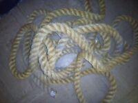 marine rope decrotive old rope