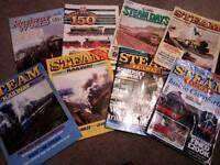 8 x Rare Steam railway's mags 1980s+