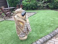 New Powakaddy Cart Bag Lite - Burberry Design, unwanted gift.