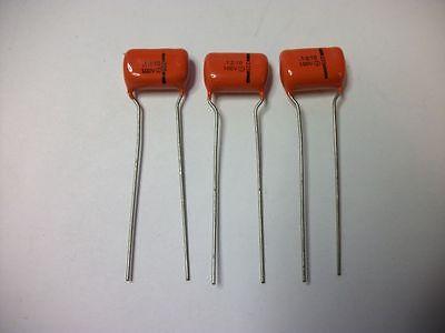 .01uF 100VDC ±10/% Sprague Orange Drop Capacitors 225P10391W Lot of 3