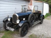 Humber Nine Vintage Two Seater with Dickey Seat 1928