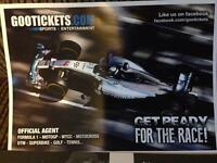 Formula 1 tickets for 2 people